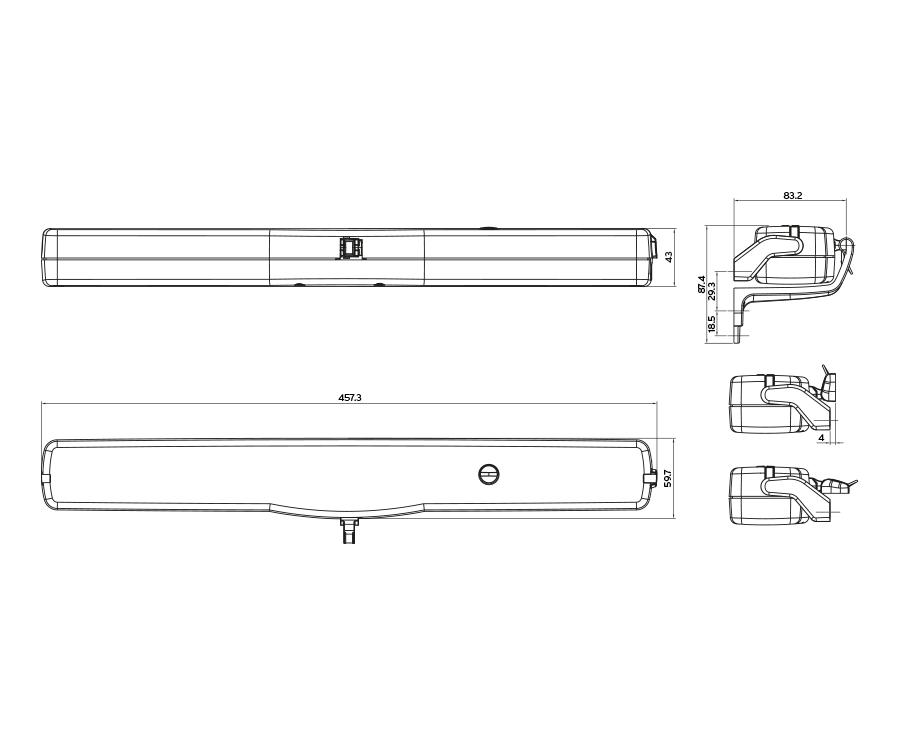 SMART 230V GRIS vérin électrique à chaîne Automatisation Moteur pour fenêtre